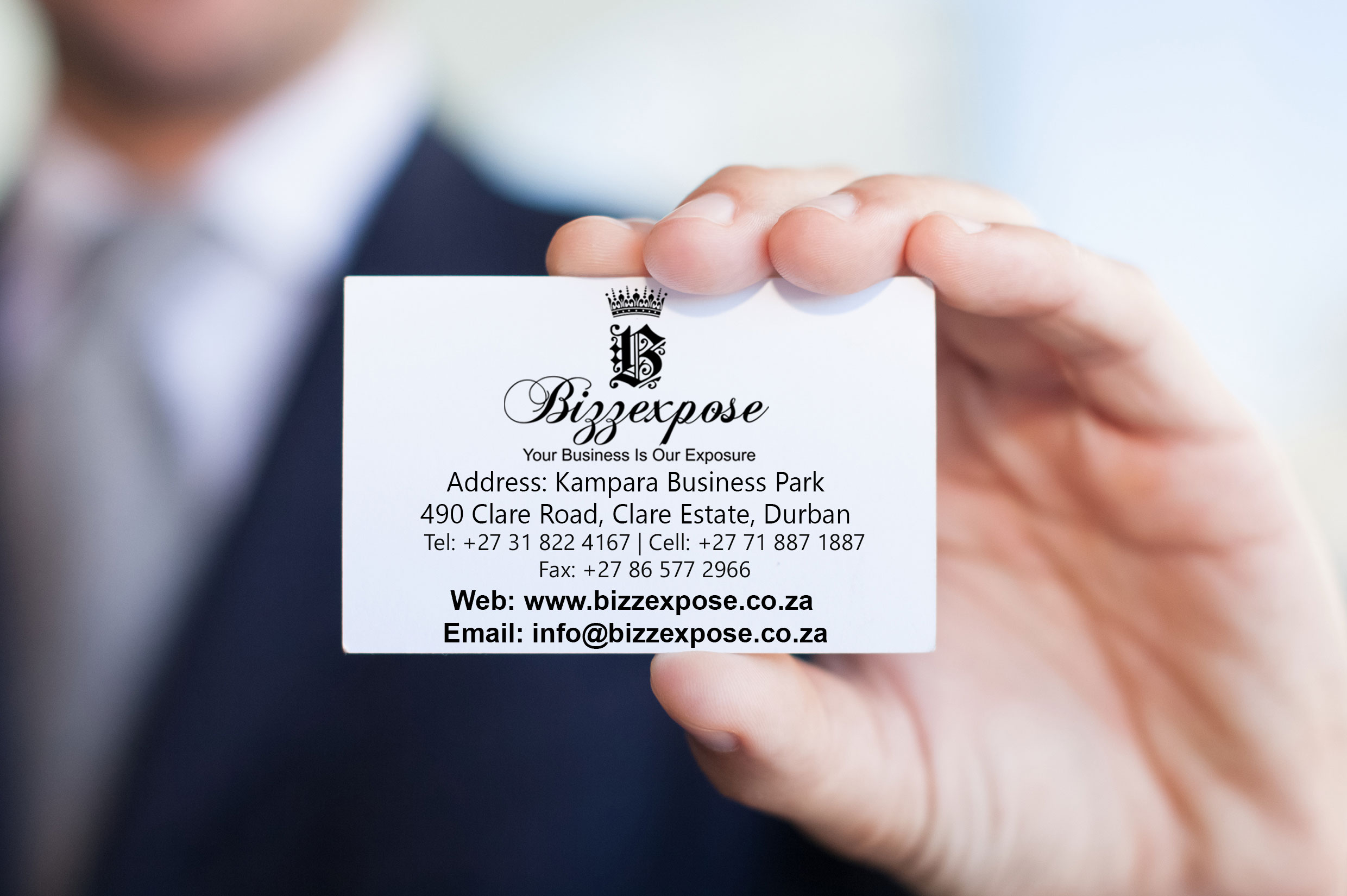 Professional Business Cards in Full Color, High Quality.
